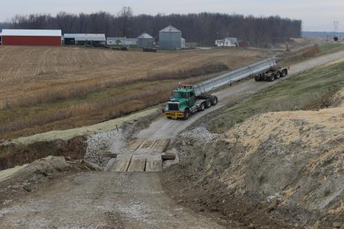 Beam Delivery US 31 Over Lehman Ditch South Bend Indiana
