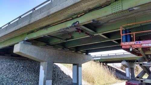 Bridge Beam Straightening - Toll Road, Indiana