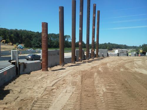 MSE Wall Construction Valparaiso Indiana