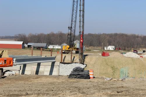 Pile Driving US 31 Over Lehman Ditch South Bend, Indiana